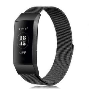 Accessories - For Fitbit Charge 3 Black Milanese Loop Band